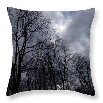 Georgia December Sky Throw Pillow