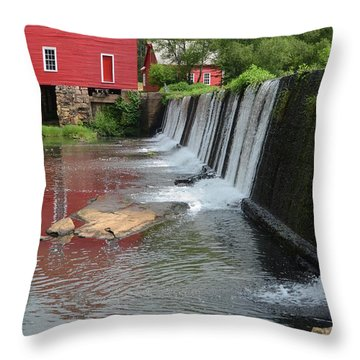 Throw Pillow featuring the photograph Georgia Mill by Margaret Palmer