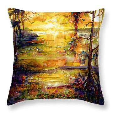Georgia Okefenokee Land Of Trembling Earth Throw Pillow