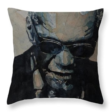 Georgia On My Mind - Ray Charles  Throw Pillow