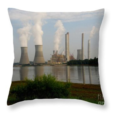 Throw Pillow featuring the photograph Georgia Power Plant by Donna Brown