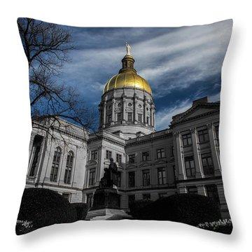 Georgia State Capital Throw Pillow