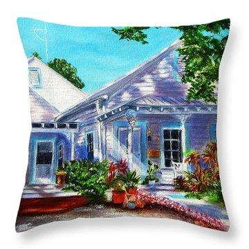 Georgia Street, Key West Throw Pillow