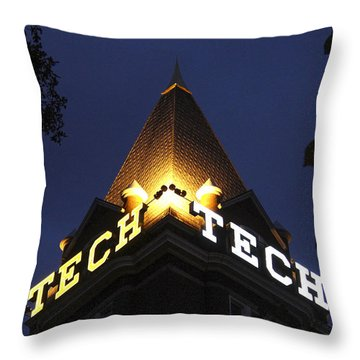 Georgia Tech Georgia Institute Of Technology Georgia Art Throw Pillow