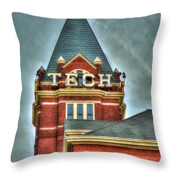Georgia Tech Tower 8 Georgia Institute Of Technology Art Throw Pillow
