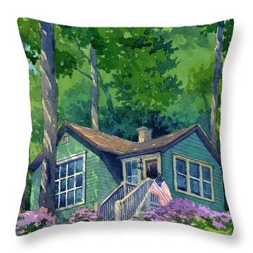Georgia Townsend House Throw Pillow