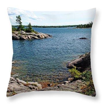 Georgian Bay Islands Throw Pillow