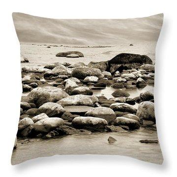 Georgian Bay Throw Pillow by Linda McRae