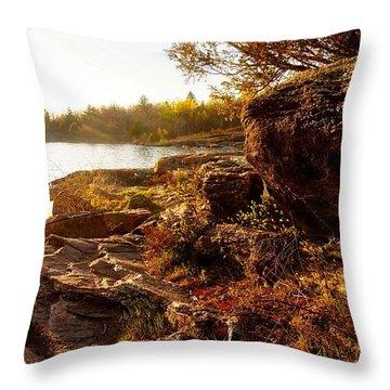 Georgian Bay Sunset Throw Pillow