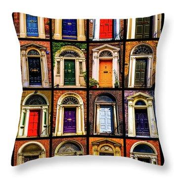 Georgian Doors Of Dublin 3 Throw Pillow