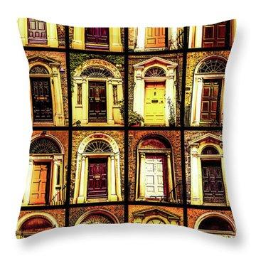Georgian Doors Of Dublin 4 Throw Pillow