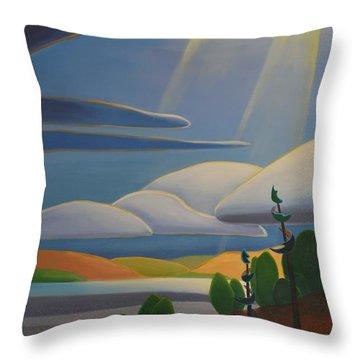 Georgian Shores - Left Panel Throw Pillow