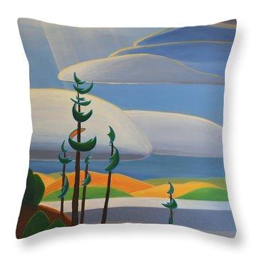 Georgian Shores - Right Panel Throw Pillow