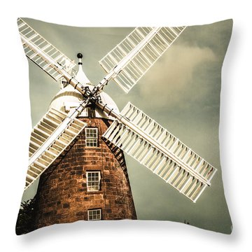 Throw Pillow featuring the photograph Georgian Stone Windmill  by Jorgo Photography - Wall Art Gallery