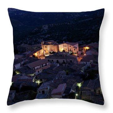 Italy, Calabria,gerace Throw Pillow