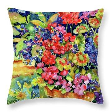 Geranium I Throw Pillow