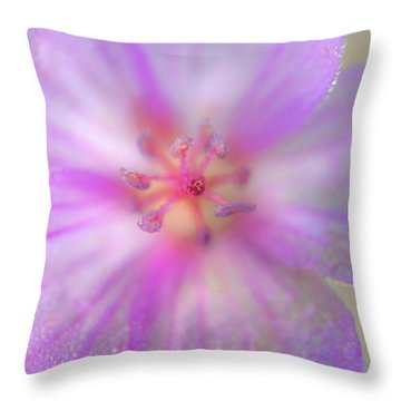 Geranium Textures Throw Pillow
