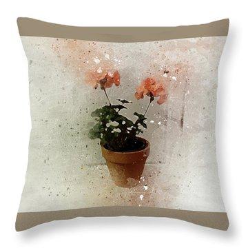 Geraniums 2 Throw Pillow