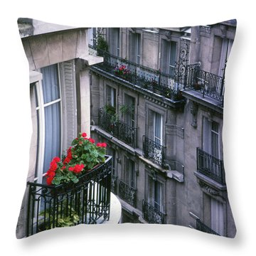 Geraniums - Paris Throw Pillow