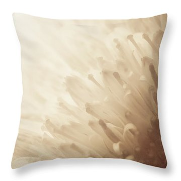 Gerbera Sepia Throw Pillow