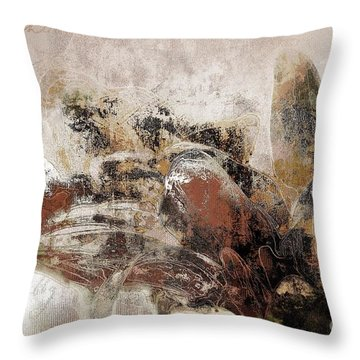 Throw Pillow featuring the mixed media Gerberie - 152s by Variance Collections
