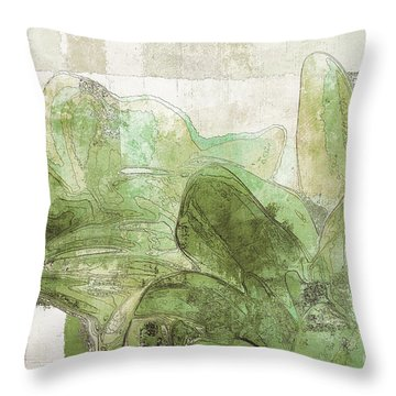 Throw Pillow featuring the digital art Gerberie - 30gr by Variance Collections