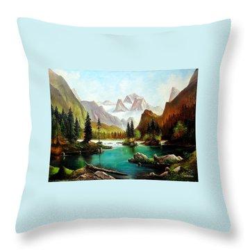 German Alps Throw Pillow