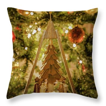 German Christmas Pyramid Throw Pillow