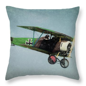 Throw Pillow featuring the photograph German Fighter by James Barber
