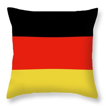 Throw Pillow featuring the digital art German Flag by Bruce Stanfield