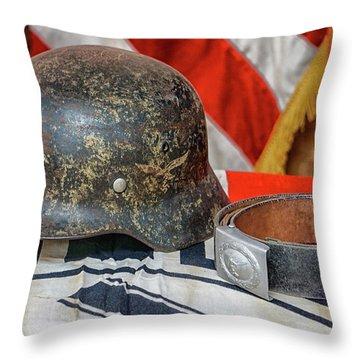 German Helmet Throw Pillow