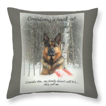 German Shepherd 911 Throw Pillow