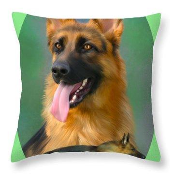 German Shepherd Breed Art Throw Pillow