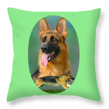 German Shepherd Breed Art Throw Pillow