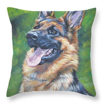 German Shepherd Head Study Throw Pillow