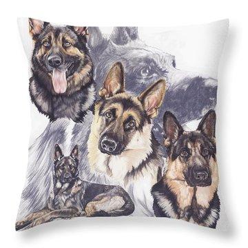 German Shepherd Medley Throw Pillow