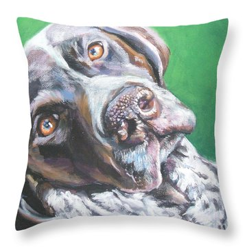 German Shorthaired Pointer Throw Pillow by Lee Ann Shepard