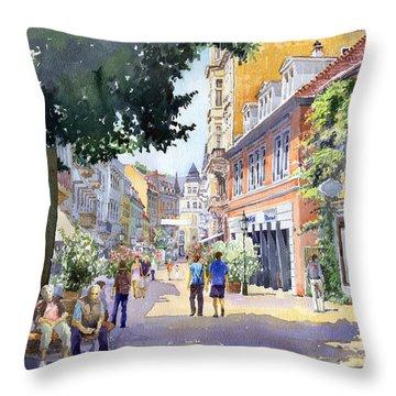 Germany Baden-baden Lange Strasse Throw Pillow