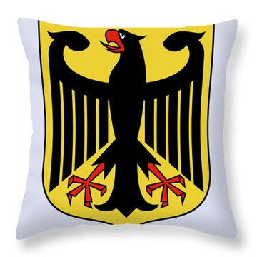Throw Pillow featuring the drawing Germany Coat Of Arms by Movie Poster Prints