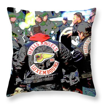 Germany Trial Hell Angels Motorcycle Club Throw Pillow