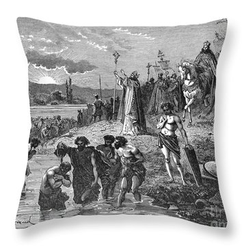 Germany, Weser River Baptism.  Throw Pillow