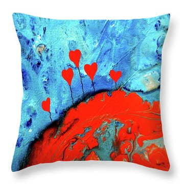 Germinating Love Throw Pillow by Saribelle Rodriguez