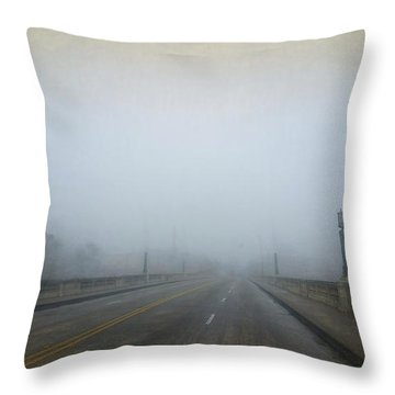 Throw Pillow featuring the photograph Gervais Bridge Christmas Day by Steven Richardson