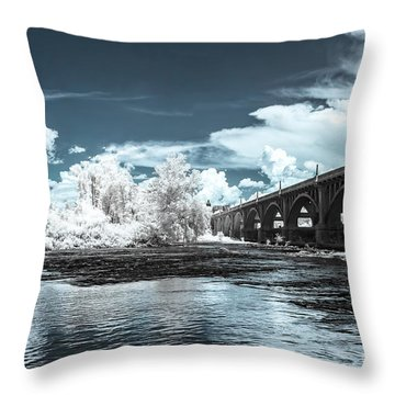 Gervais St. Bridge-infrared Throw Pillow