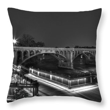 Gervais Street B-w Throw Pillow