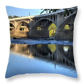 Gervais Street Bridge-1 Throw Pillow