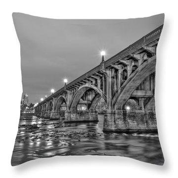 Gervais Street Bridge II Throw Pillow