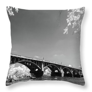 Gervais Street Bridge In Ir1 Throw Pillow