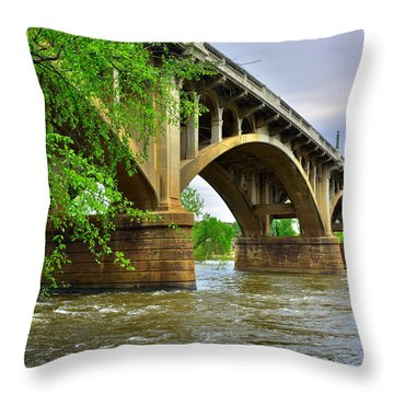 Gervais Street Bridge Throw Pillow
