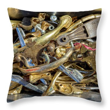 Throw Pillow featuring the photograph Get A Handle On It by Christopher Holmes